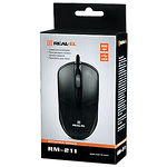 Мышка REAL-EL RM-211 (black) , USB, 1 Wheel, 800cpi