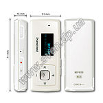 MP3 player + FM-tuner + USB Flash 8Gb (TRANSCEND T.Sonic 650 Ivory, LED Display) - фото