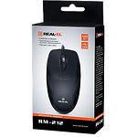 Мышка REAL-EL RM-212 (black) , USB, 1 Wheel,1200cpi
