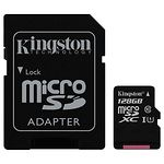 microSD XC 128 GB Kingston Canvas Select Class 10 UHS-I (с переходником, SDCS/128GB)