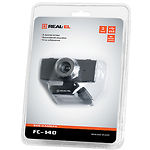 WEB-камера REAL-EL FC-140 Black-grey, 1.3Mp dinamic/0.35Mp CMOS, USB, микрофон