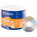 DVD-R Verbatim 4,7Gb 16x Wrap 50 pcs Matt Silver (43791)