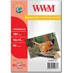 Фотобумага WWM глянцевая, 180г/м2, 100х150 мм, 50л (G180.F50)