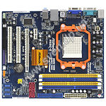 AsRock N68С-S, S-AM2/AM3, nForce 7025, DDR2+DDR3, PCIex16x, int Video, S-ATA Raid, Sound, Lan - фото