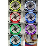Вентилятор 120мм Cooling Baby 12025RGB7 120x120x25 HB,25дБ,12V,1200об/мин,3-pin+4-pin Molex