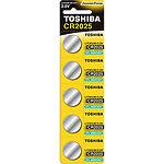 Батарейка TOSHIBA CR2025 BP Lithium 3V (00152702) (5шт/Blister)