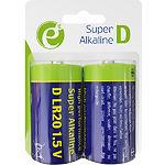 Батарейка EnerGenie EG-BA-LR20-01 Super Alkaline R20/Тип D (2шт/blister)