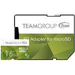 microSD HC 16GB Team Color Green UHS-I Class10 (TCUSDH16GUHS43 с переходником на полный SD)