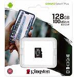 microSD XC 128 GB Kingston Canvas Select Plus А1 Class10 UHS-I (без переходника, SDCS2/128GBSP)
