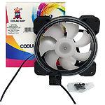 Вентилятор 120мм Cooling Baby 12025HRI2L 3D-Spectrum 120x120x25 HB,25дБ,12V,1300об/мин,3-p+4-p Molex