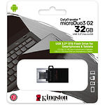 USB Flash 32GB KINGSTON DataTraveler MicroDuo 3 Gen2 USB3.2 DTDUO3G2/32GB, интерфейс micro-USB/USB