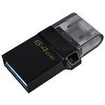 USB Flash 64GB KINGSTON DataTraveler MicroDuo 3 Gen2 USB3.2 DTDUO3G2/64GB, интерфейс micro-USB/USB