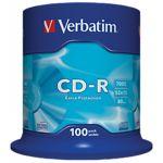 CD-R Verbatim 700Mb 52x Cake 100 pcs Extra Protection (43411)