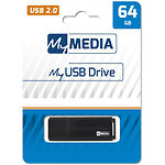 USB Flash 64GB MyMedia {69263} USB 2.0 Black