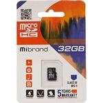 microSD HC 32Gb Mibrand UHS-I class 10 (без переходника, MICDHU1/32GB)