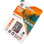 microSD XC 64Gb Mibrand UHS-I class 10 (с переходником, MICDXU1/64GB-A)