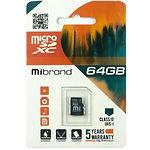 microSD XC 64Gb Mibrand UHS-I class 10 (без переходника, MICDXU1/64GB)