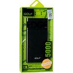 Внешний аккумулятор Power Bank GOLF EDGE5 (GF-EDGE5-K) 5000mAh Black