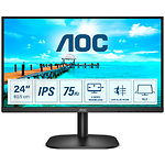 "Фото AOC 24"" 24B2XDA IPS 1920x1080, 4мс, 178/178, 1000:1, 250кд/м2, 75Гц,VGA/DVI/HDMI,Audio in/out,2x 2Вт"