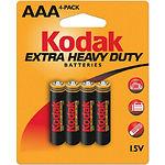 Батарейка KODAK (Тип AAA) (30953321) EXTRA HEAVY DUTY (4шт/blister)