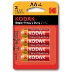 Батарейка KODAK (Тип AA) (30951044) Super Heavy Duty R 6 (4шт/blister)