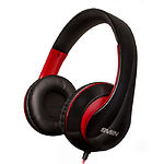 SVEN AP-940MV black-red наушники с микрофоном (кожаные) Джек 3,5мм 4pin, адаптер 1м для ПК