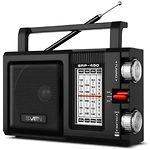 SVEN SRP-450 (black) портативный радиоприёмник 3Вт, FM, джек 3,5
