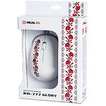 Мышка REAL-EL RM-777 (Glory) , USB, 2 key, 1 Wheel, 1000cpi