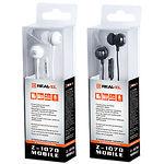 REAL-EL  Z-1070 Mobile white наушники с микрофоном Джек 3,5мм 4pin