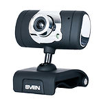 WEB-камера SVEN IC-525 Black, 1.3Mp dinamic/0.35Mp CMOS, USB, микрофон