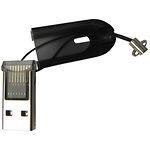 Card Reader STLab U-373 black (ext USB 2.0, для MicroSD карт, черный)