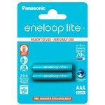 Аккумулятор Panasonic Eneloop Lite BK-4LCCE/2BE  AAA/(HR03), 550mAh, LSD Ni-MH, блистер 2шт