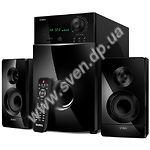 Фото SVEN MS-2100 (black) Акустическая система 2.1 50W Woofer + 2*15W speaker, FM, SD, USB, LED display,