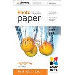 Фотобумага ColorWay глянцевая 230г/м2, 100х150 мм, 100л (PG2301004R)