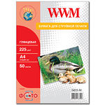 Фотобумага WWM глянцевая, 225г/м2, A4, 50л (G225.50)