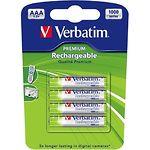 Аккумулятор Verbatim (49942)  AAA NiMH, 1,2В 1000mAh (4шт/blister)