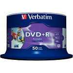 DVD+R Verbatim 4,7Gb 16x Cake 50 pcs wide inkjet photoPrintable (43512)