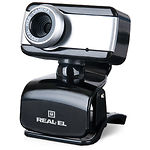 WEB-камера REAL-EL FC-130 Black, 1.3Mp dinamic/0.35Mp CMOS, USB, микрофон