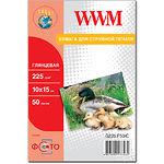 Фотобумага WWM глянцевая, 225г/м2, 100х150 мм, 50л (G225.F50/C)
