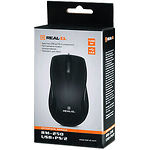 Мышка REAL-EL RM-250 (black) , USB+PS/2, 1 Wheel, 800cpi