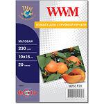 Фотобумага WWM матовая, 230г/м2, 100х150 мм, 20л (M230.F20)