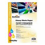 Фотобумага DeTech Everyday глянцевая, 150 г/м2, 100х150 мм, 100л (PG150M.4R 100)