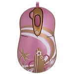 Мышка (A4) G-Cube GLA-6SF (Розово-золотая,  орнаментная)