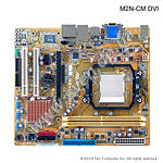 Фото ASUS M2N-CM-DVI nForce7025 S-AM2, DDRII,int Video+DVI, PCIe16x, S-ATA Raid, Sound 6ch, Lan Giga