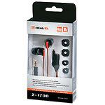 REAL-EL  Z-1700 (black-orange) наушники для плеера, дополнительный разъем 3,5мм