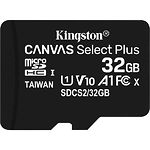 microSD HC 32Gb KINGSTON Canvas Select Plus UHS-I A1 Class10(без переходника SDCS2/32GBSP) R-100MB/s