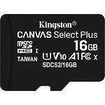 microSD HC 16Gb KINGSTON Canvas Select Plus UHS-I A1 Class10(без переходника SDCS2/16GBSP) R-100MB/s