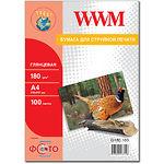 Фотобумага WWM глянцевая, 180г/м2, A4, 100л (G180.100)