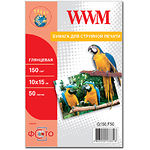 Фотобумага WWM глянцевая, 150г/м2 , 100х150 мм , 50л (G150.F50)
