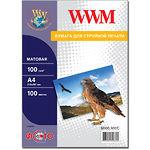 Фотобумага WWM матовая, 100г/м2, A4, 100л (M100.100/C)